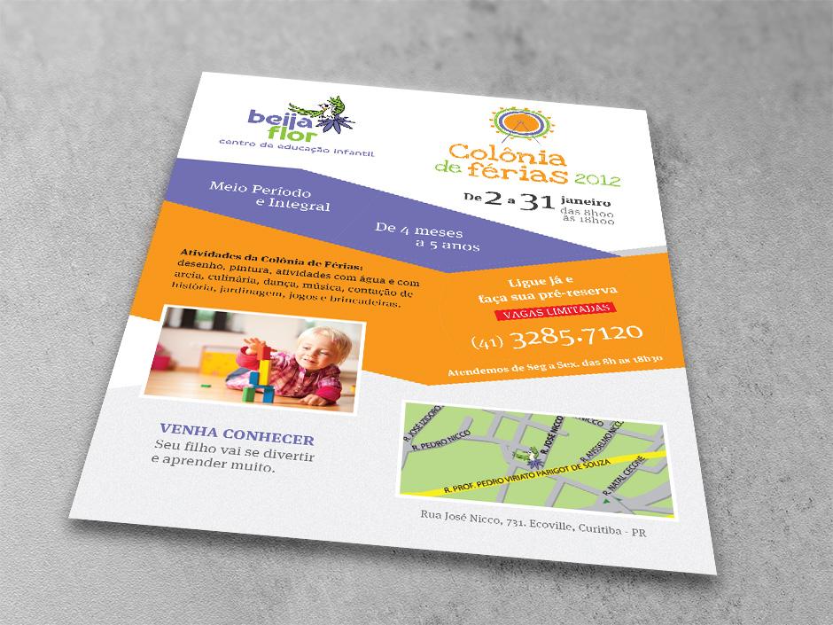 Flyer Beija-flor – Centro de Educação Infantil