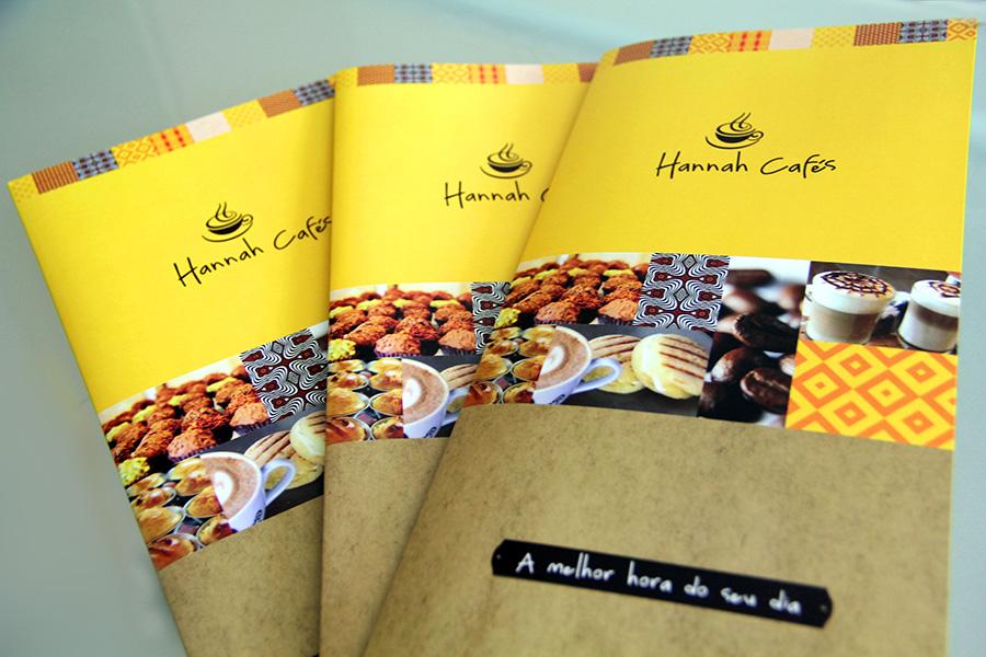Hannah Cafés Cardápio